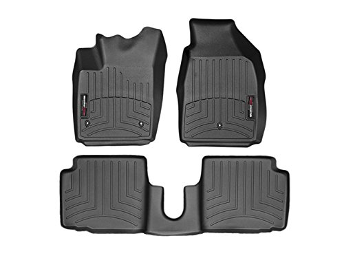 2011-2015 Fiat 500-Weathertech Floor Liners-Full Set (Includes 1st and 2nd Row) Black