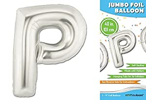 Amazoncom rainbowloons jumbo mylar foil balloon 40 inch for Foil letter balloons amazon