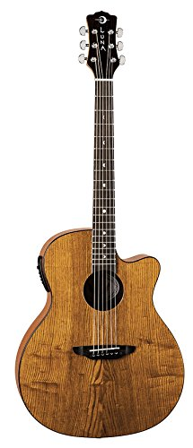 Luna GYP E ASH Acoustic-Electric Guitar, Gloss Natural