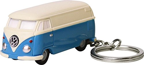 Volkswagen Type II Bus Key Chain Light, Blue and White