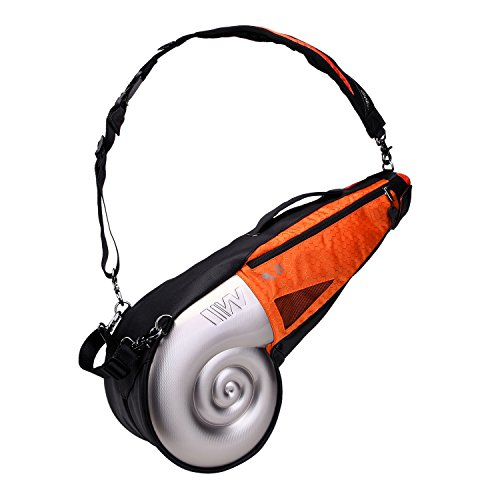 - Wellzher Nautilus Driving Range Sunday Golf Bag, Silver/Orange
