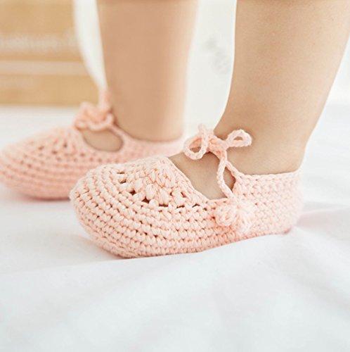 Pictures of Kuner Handmade Crochet Newborn Baby Shoes Mary 2