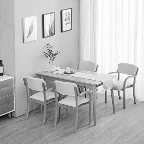 Mlzaq Chaise ordinateur Tabouret Fauteuil Tissu rembourré à manger moderne avec Salon Chambre Bureau Cuisine en bois massif Minimaliste étude unique Chaise Bureau Couleur bois