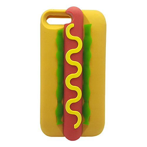 Hot Dog iPhone 7 Plus Case,iPhone 8 Plus Case, XINSIR Cute 3D Cartoon Hamburger Soft Silicone Case Rubber Back Cover Skin for Apple iPhone 7 Plus & iPhone 8 Plus 5.5inch (Soft Back Cover)