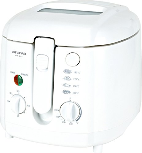 Orava FR-101 Solo Independiente 2L 1500W Color blanco - Freidora (2 L,