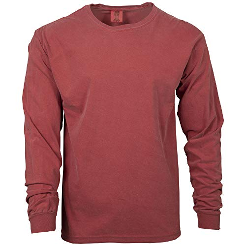 Comfort Colors Men's Adult Long Sleeve Tee, Style 6014, Crimson, 4X-Large