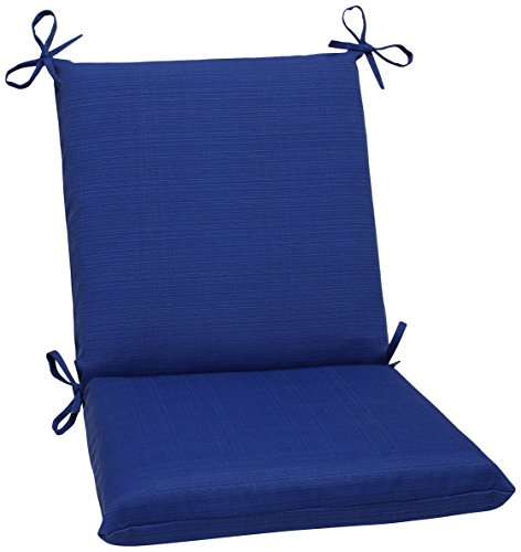 Fresco Collection (Pillow Perfect Indoor/Outdoor Fresco Squared Chair Cushion, Navy)