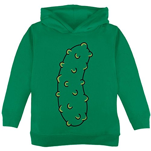 Halloween Vegetable Pickle Costume Toddler Hoodie Green 2T (Baby Pickle Halloween Costume)