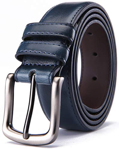 Mens Classic Single - Mens Belt,HW Zone Genuine Leather Dress Belt Classic Casual 1 1/4