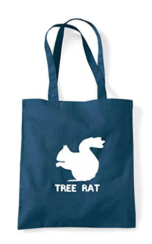 Squirrel Tote Tree Bag Petrol Funny Cute Shopper Names Rat Alternative Animal Themed zwI8wA