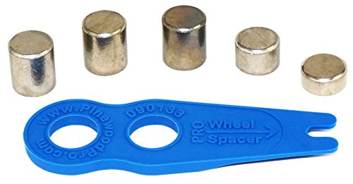 Pinewood Pro Derby Car Weights -Tungsten 2oz Round Cylinder Weights with Free Wheel Spacer and Drill Guide Tool