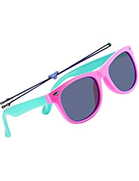 Rubber Flexible Kids Polarized Sunglasses For Boys Girls...