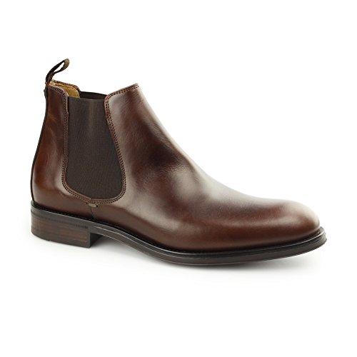 Men's John White Portchester Leather Chelsea Boots Tan fONq2O43s