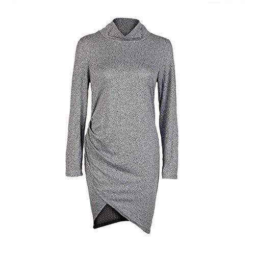 OverDose, La Mode Des Femmes Automne Hiver Robe Longue Manches Mini Robe