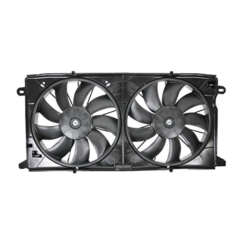 (Radiator Dual Cooling Fan Assembly for 00-05 Deville Aurora 4.0L 4.6L)