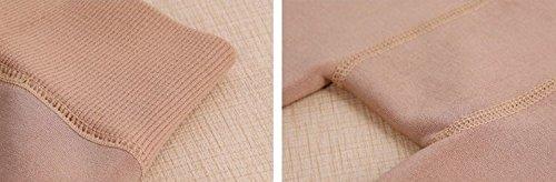 GBHNJ Leggings Femmes Slim Étape Sur Le Pied Taille Haute Plus Épais Peut Se Porter À L'Extérieur Pantalon Coton Teint Transparent F(Poids Approprié 80-130 Catty)