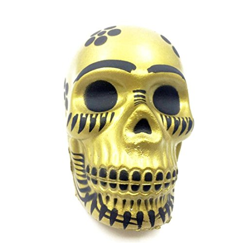 HANYI Stress Relief Toys For Kids With Adhd, Squeeze-Therapy-Sensory-Squishy-Educational (Galaxy Skull - Skull Ball Squishy