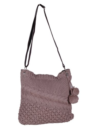 Womens Verity HandBag ShoulderBag Beige Knitted EyeCatch Knitted ShoulderBag EyeCatch Womens Verity aYgxRnwqF