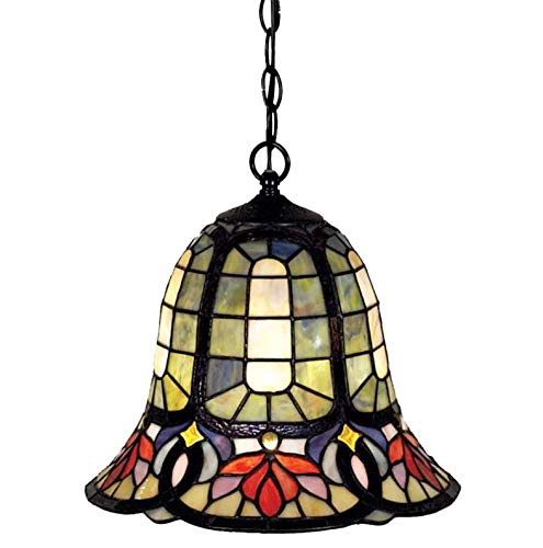 Quoizel TF1737VB Hyacinth Tiffany Mini Pendant Lighting, 1-Light, 150 Watts, Vintage Bronze (12