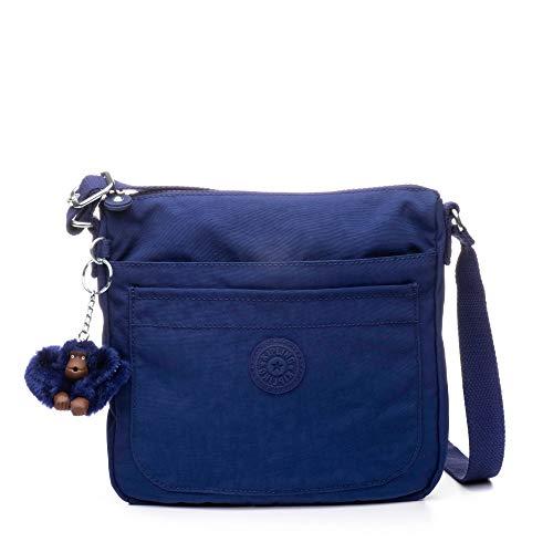 Kipling Women's Sebastian Bag, Adjustable Crossbody Strap, Top Zip Closure, Cobalt Dream Tonal