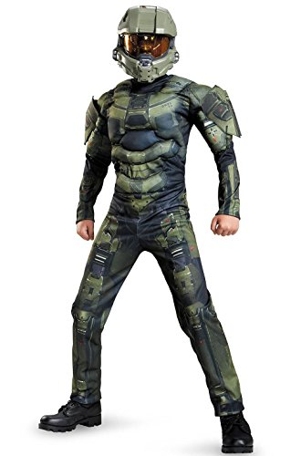Mememall Fashion Halo Master Chief Classic Muscle Child Costume (Halo Master Chief Kids Costume)