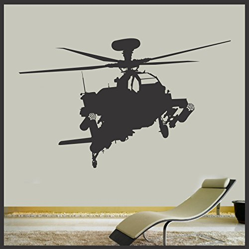 Military Apache Attack Helicopter vinyl wall decal - -