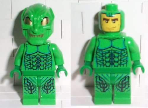 Lego Green Goblin Minifigure with Printed Mask from Spide...