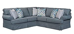 Wonderful Broyhill Emily Collection 6263 2 3/4022 44/CW4073 48/4122 44/8712 45 Two  Piece Sectional Sofa With Left Arm Facing Loveseat And Right Arm Facing Sofa  In ...
