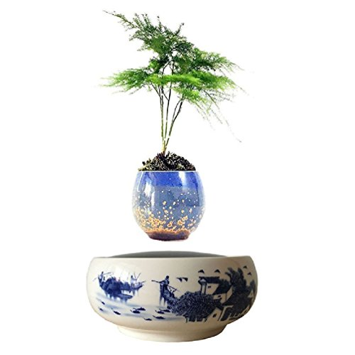 magnetic levitation potted plant floating air bonsai tree pot garden beautiful gifts for men