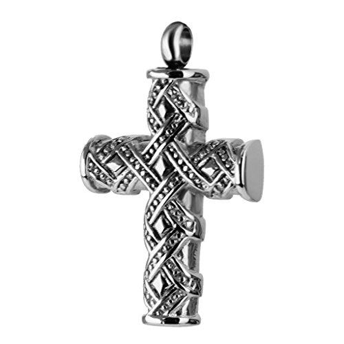 Pendentif de Cendres Urne Croix en Inox pour Fabrication de Collier
