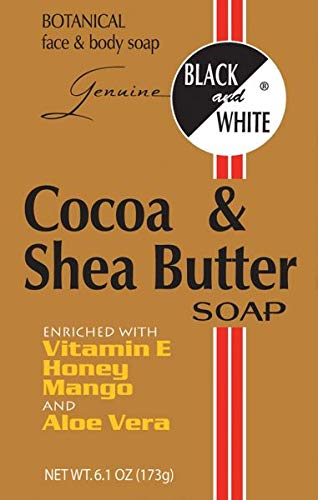 Black and White Cocoa & Shea Butter Soap 6.1 oz ()