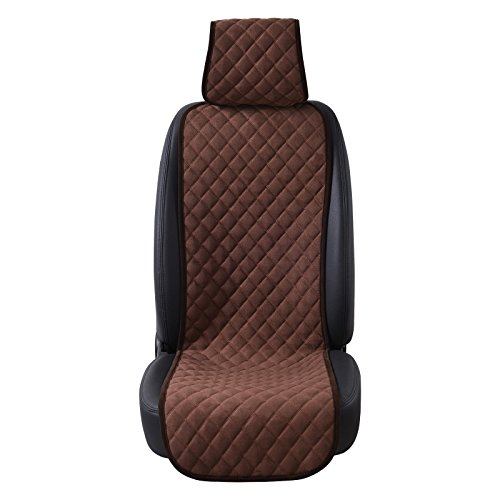 AUTOYOUTH Car Seat Cushion Cover 1PC Universal Four Seasons Car Seat Protector Cotton Velvet Cloth Breathable Comfortable Car Cushion LIMITED Dark Blue AODELAI CO
