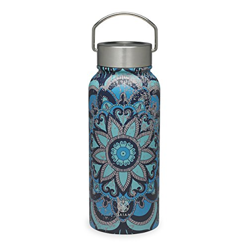 - Gaiam Water Bottle Wide-Mouth Stainless Steel, Madeira, 32 oz