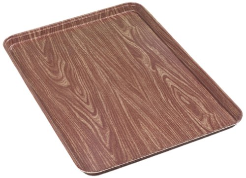Carlisle Glasteel Display - Carlisle 2618WFG063 Fiberglass Glasteel Wood Grain Display/Bakery Tray, 17.87