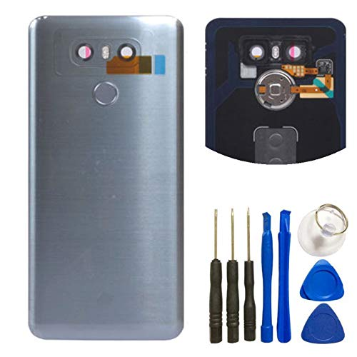 For LG G6 Glass Battery Back Cover   Battery Door Cover + Fingerprint Flex  Sensor +
