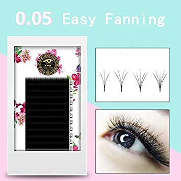 eeee24d179c Amazon.com : ZHIYOU Easy Fan Auto Volume Bloom Mega Grafting False Eyelashes  Blossom 0.05 Coarse Thick Natural Soft Handmade Extension Pick (J, ...
