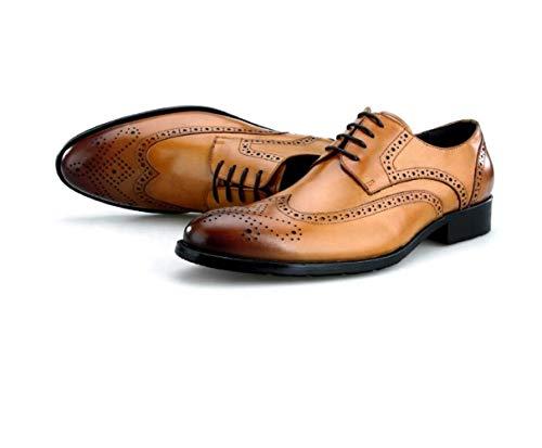 Tallados Negocios Derby Rojo Zapatos Caballero Inglaterra Para Amarillo Negro Fiesta Vino Yellow Ciudad q1CnOn5
