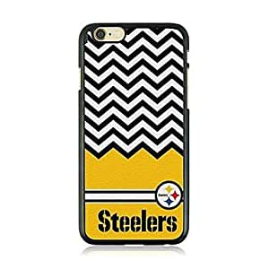 QHY The Wave of Black and White Stripe Leather Vein Pattern Hard Case for iPhone 6 Plus