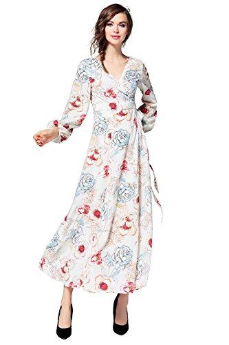Buy long sleeve empire waist cocktail dress - 4