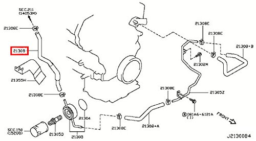 2008 Infiniti G35 Water Hose Diagram Infiniti Auto Parts