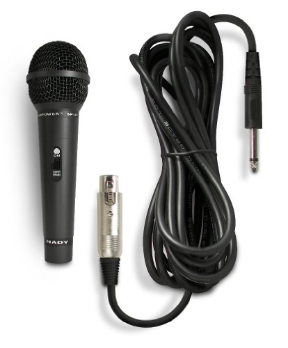 "Nady SP-4C Dynamic Neodymium Microphone - Professional vocal microphone for performance, stage, karaoke, public speaking, recording - includes 15' XLR-to-1/4"" cable"