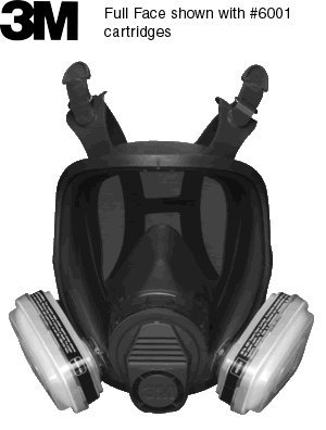3M 6000 Series Dual Cartridge Respirator (Full Face) (Large- by 3M