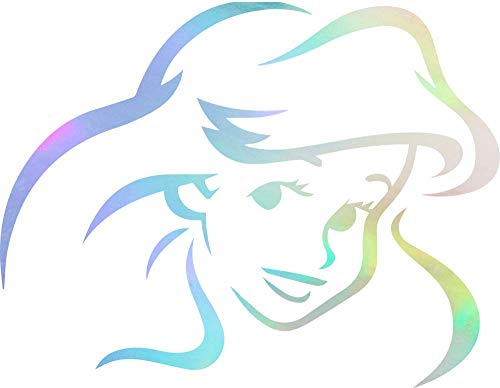 Princess Aril Disney Ariel (Hologram) (Set of 2) Premium Waterproof Vinyl Decal Stickers for Laptop Phone Accessory Helmet Car Window Bumper Mug Tuber Cup Door Wall Decoration