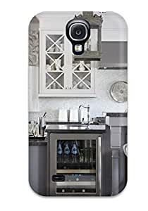 First-class Case Cover For Galaxy S4 Dual Protection Cover Kitchen With Open Dispaly Shelving And Wine Refrigerator