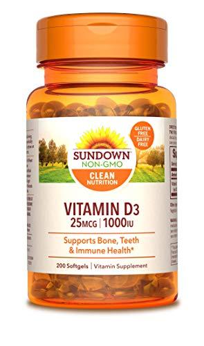- Sundown Naturals® Vitamin D3 1000 IU, 200 Softgels