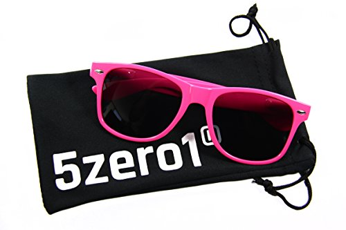 I's Colour Retro Rewind Women Men Wayfarer Classic Fashion Party Wedding Sunglasses (Hot Pink Sunglasses, Black) (Hot Pink Wayfarer Sunglasses compare prices)