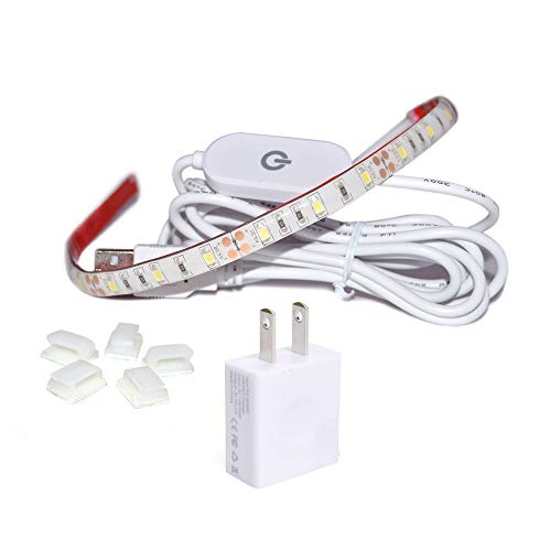 WENICE Sewing Machine Light,LED Lighting Strip kit Cold White 6500k with Touch dimmer and USB Power,Fits All Sewing Machines for Mother's - White Sewing Machines