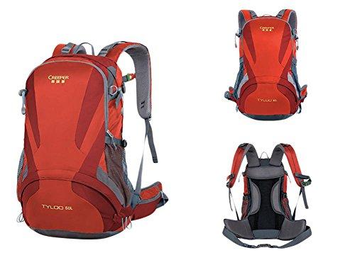 40L Professionelle Outdoor-Klettern Rucksack Schultern Wandern wasserdicht Unisex reisen Sport Bergsteigen Tasche Rucksäcke Red brYPiMTxC0