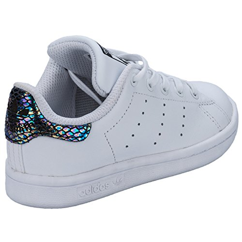 adidas Girls Originals Stan Smith Snake Trainers White-Lace  Fastening-Metallic  Amazon.co.uk  Shoes   Bags b6cf789d62d6