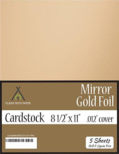 Mirror Metallic Gold Cardstock - 8.5 x 11 inch - .012
